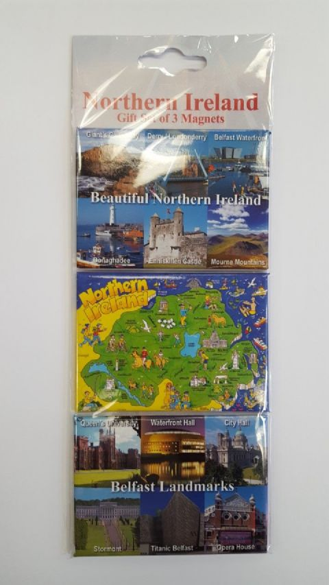 Northern Ireland - 3 Magnet Gift Set